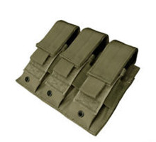 Condor MA52 MOLLE Tactical Triple Pistol Magazine Pouch- OD Green/ Black/ Tan/ Coyote Brown