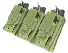Condor MA55 Triple Kangaroo .223 or 5.56mm & Pistol Magazine Pouch- OD Green/ Black/ Tan