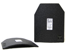 "AR500 Armor® 11"" x 14"" Curved Patented Advanced Shooters Cut (ASC) Level III Body Armor Plate"