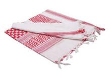 Condor 201-004 Shemagh 100% Cotton Scarf Head Wrap Bandana keffiyeh-  White / Red