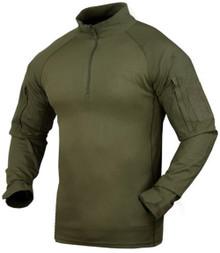 Condor 101065 Moisture Breathable Tactical 1/4 Zip Combat Shirt- OD Green/ Black/ Tan/ Navy Blue