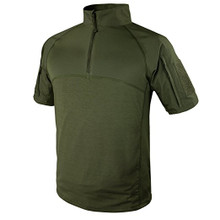 Condor 101144 Moisture Breathable Tactical 1/4 Zip Short Sleeve Combat Shirt- OD Green/ Black/ Tan/ Navy Blue