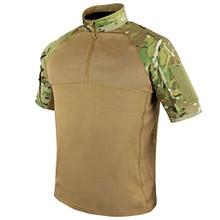 Condor 101144-008 Moisture Breathable Tactical 1/4 Zip Combat Shirt - MultiCam