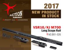 Action Army VSR10 / KJ M700 Long Scope Rail