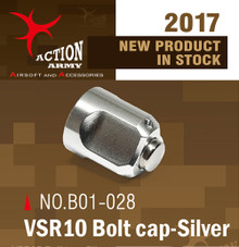 Action Army VSR10 Bolt Cap (Silver)