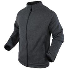 Condor 101050-018 Thermal Matterhorn Knitted Fleece Warm Jacket-Graphite