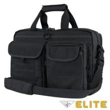 Condor 111072 Tactical Elite Metropolis Briefcase Travel Shoulder Bag- Black/ Brown