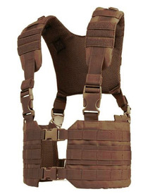 Condor MCR7 MOLLE Tactical Ronin Chest Rig Split Chest Rig Vest- OD Green/ Black/ Tan/ Coyote Brown