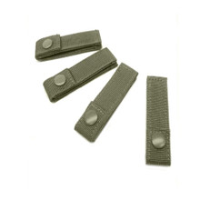 "Condor 223 OD 4"" MOD Straps 4pk MOLLE PALS Modular Gear Web Attachment Tie- OD Green/ Black/ Tan"