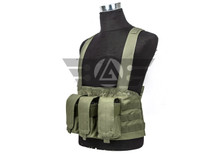 Gryffon 90101 Golem Molle Tactical Chest Rig with 3 magazine pouches- OD Green/ Black/ Tan