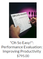 """Oh So Easy!"": Performance Evaluation: Improving Productivity and Helping Employees Succeed"