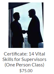 Certificate: 14 Vital Skills for Supervisors