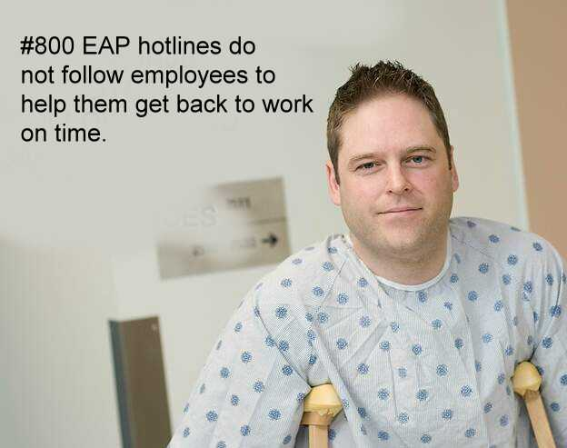 cheap #800 EAP hotlines don't help employees get back to work