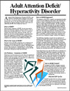 E010 Adult Attention/Hyperactivity Disorder