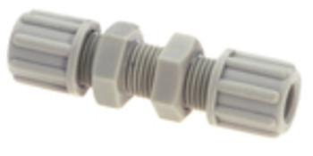 Straight bulkhead connector