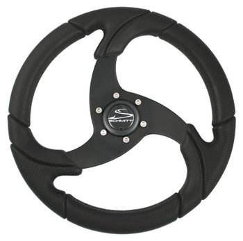 "FOLLETTO WHEEL - ALL POLYURETHANE - 3/4"" TAPERED SHAFT - INCLUDES BLACK PLASTIC CAP"