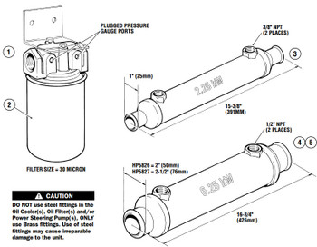 SeaStar HP5826 Oil Cooler 6.25KW 2in. Lines For Marine Power Steering System