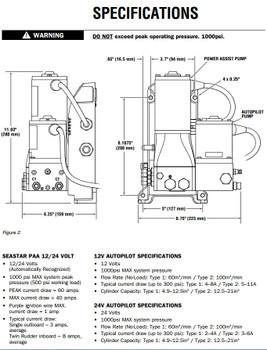 SeaStar PA6010 Power Assist and AutoPilot Pump 12v 60cu.in.
