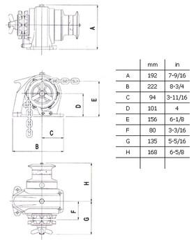 ROYAL - Horizontal Manual Windlass  LW250AN