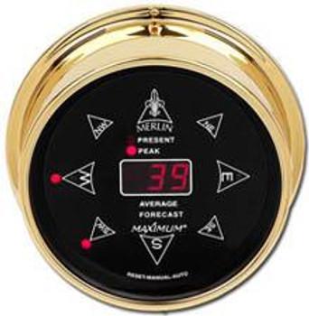 Wireless Merlin – Brass case, Black dial
