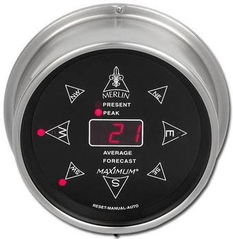 Wireless Merlin – Nickel case, Black dial