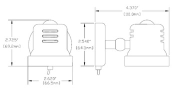 Imtra ILIM40601 Auckland Marine LED with Switch - Warm White Chrome 10-30VDC