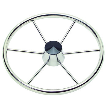 "Schmitt Model 150 15.5"" 6 Spoke Destroyer Wheel - 1"" Straight Shaft - Standard Rim Black Center Cap 10° Dish - 1521617"