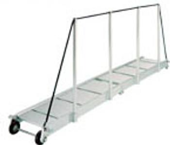 """Gangway """"PA161.25"""", Manual Folding Gangway 2500mm Alum w/Alum Deck Finish"""