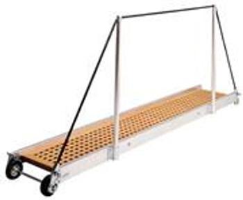 """Gangway """"PT162.35"""", Manual Gangway 3500mm Alum w/Teak Deck Finish"""