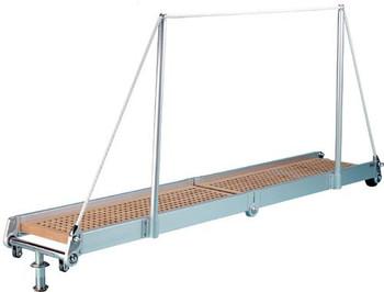 """Gangway """"PT163.35"""", Manual Folding Gangway 3500mm Alum w/Teak Deck Finish"""