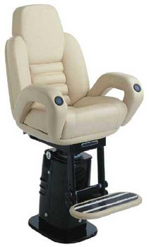 "P216 ""President"" w/Elec. Adj. Pedestal & Footrest Imitation Leather Finish"
