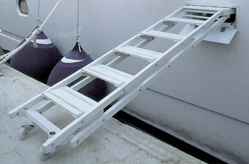 """Retractable Side Ladder """"SI403"""", 5-Step Version"""