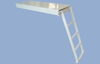 "Swim Ladder ""SI410"", 4-Step, Manual Operation,  Powder Coated Finish"