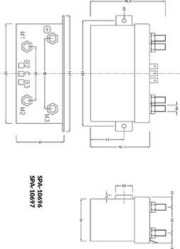 Solenoid Control Box SPA-10697 Dimensions.
