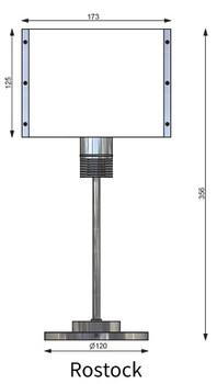 Prebit ILPB25012305 Rostock LED Marine Table Lamp w/ Switch & Dimmer- Chrome - Warm White