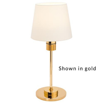 Prebit ILPB70100707 Kati LED Marine Table Lamp w/ Switch & Dimmer- Matte Chrome - Warm White
