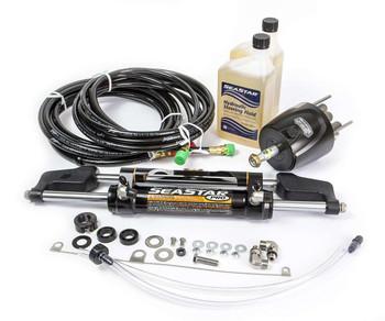 SeaStar HK7518A-3 PRO Hydraulic Steering System Kit w/ 18ft Hoses