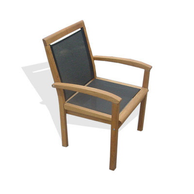 Stackable Wood Outdoor Chair