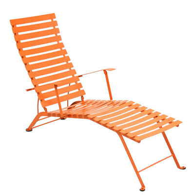 The Bistro Adjustable lounge chair shown in Carrot.
