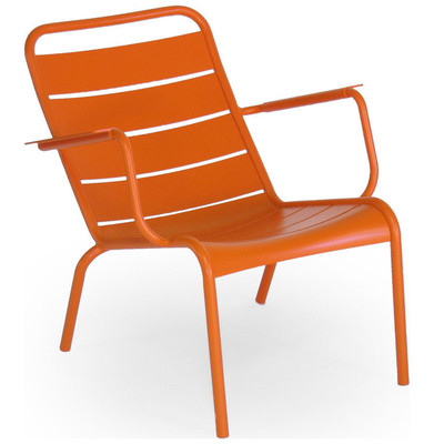 The Luxembourg Stackable low chair shown in carrot.