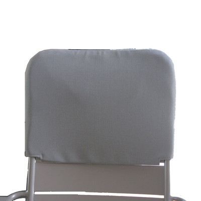 The Luxembourg Low Chair Headrest shown in steel grey.