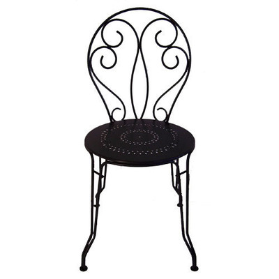The Bugey side chair shown in Liquorice (black).