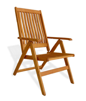 5-Position Wood Arm Chair