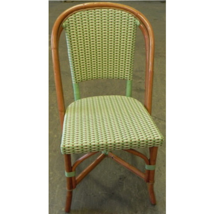 Beau French Rattan Bistro Chair In Lime
