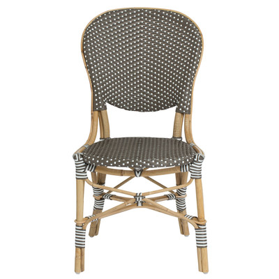 Isabell Outdoor Bistro Side Chair in Cappuccino front