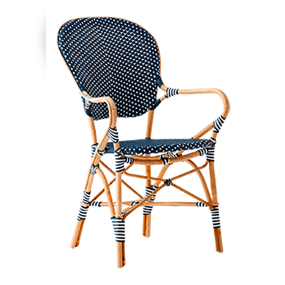 Isabell Arm Chairs Navy With White Dots Set Of 2