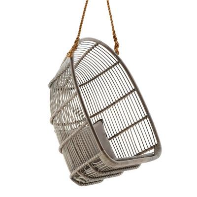 Renoir Hanging Chair, Taupe Grey