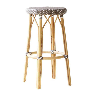 Simone Bar Stool, Cappuccino with White Dots