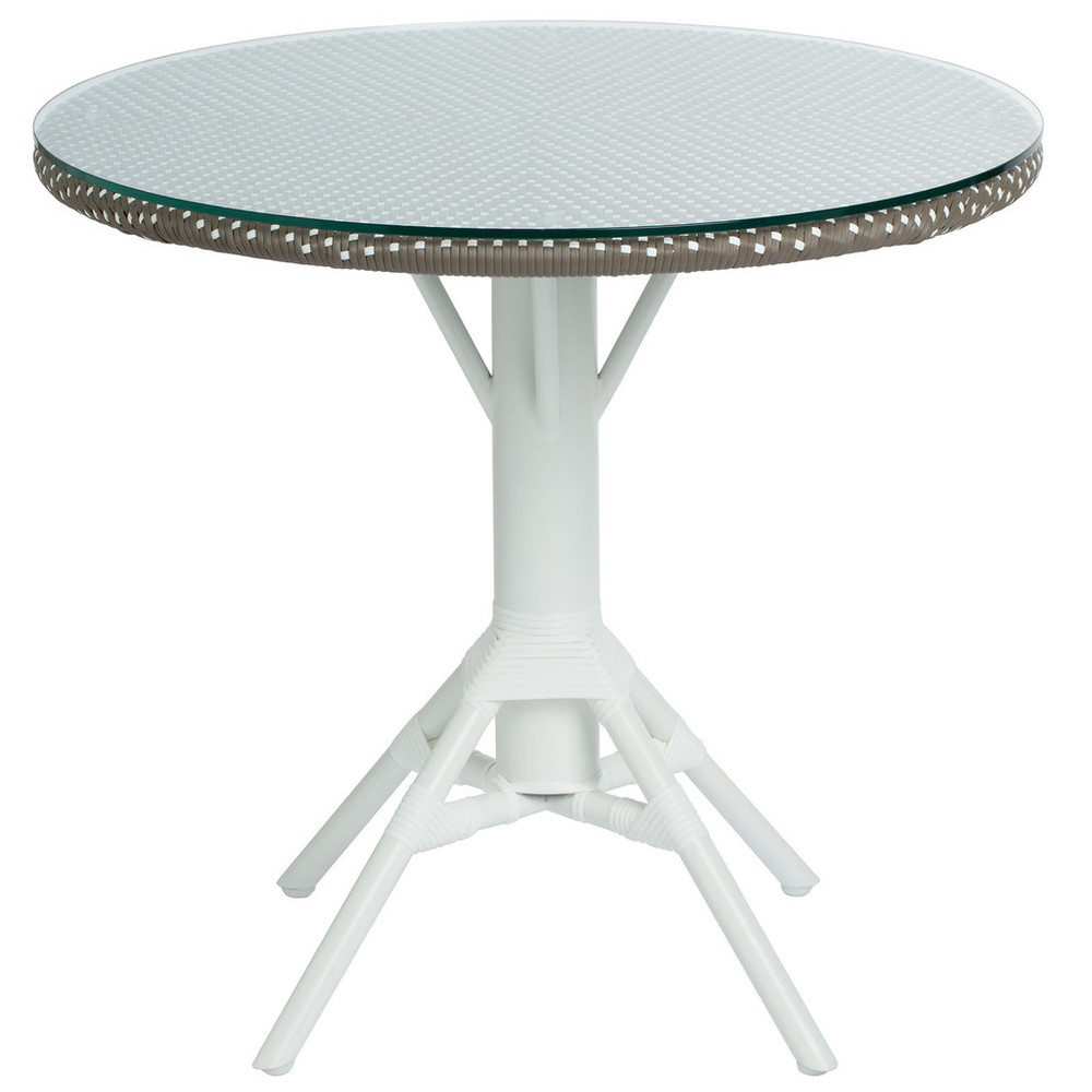 Nicole Cafe Table With Woven Round Tabletop