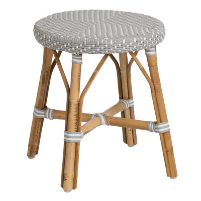 Simone Dining Stool Grey with White Dots